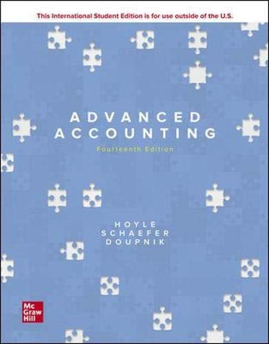 Compare Textbook Prices for Advanced Accounting 14 Edition ISBN 9781260575910 by Hoyle, Joe Ben,Schaefer, Thomas,Doupnik, Timothy