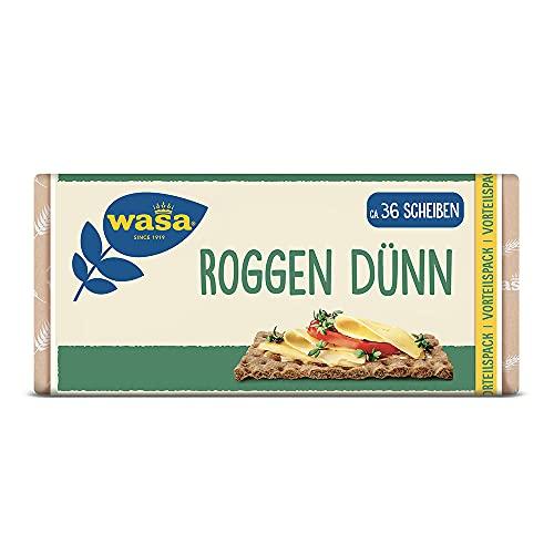 Wasa Knäckebrot Roggen Dünn Familienpackung, 12er Pack (12 x 410g)