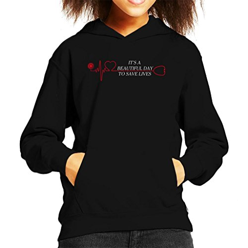 Cloud City 7 Its a Beautiful Day To Save Lives Kid's Hooded Sweatshirt