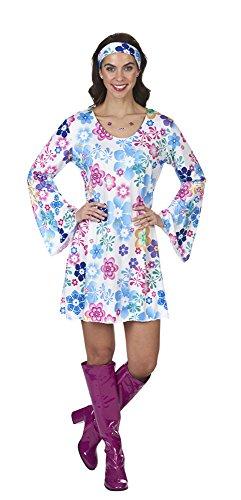 Andrea Moden Hippie Kostüm Lovely für Damen - Weiß Bunt Gr. 32 34