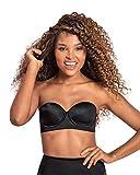 Leonisa Slimming Underwire Strapless Push up Bra for Women Black
