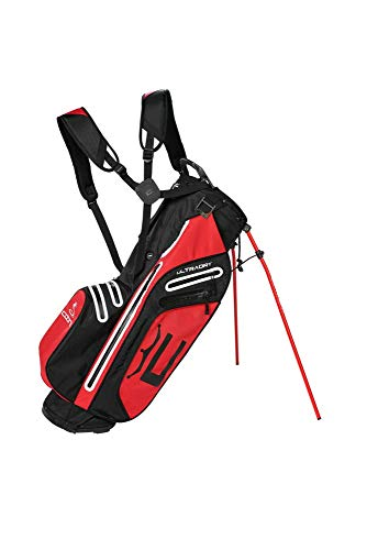 Cobra Golf 2021 UltraDry Pro Stand Bag (Black-High Risk Red), 909479-02