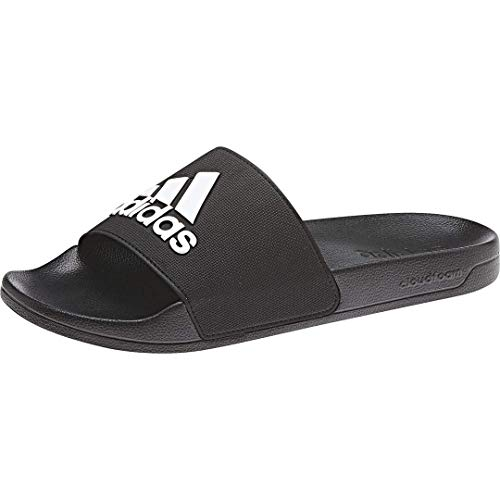 adidas Men's Adilette Shower Slide, Core Black/White/Core Black, 10