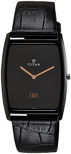 Titan analogique Cadran noir montre homme–Ne1596nl01