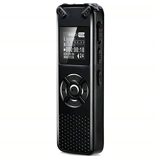 YHML 8GB Grabadora Digital,Portátil 410 Mah HD Grabadora,Reproductor MP3/A-B De Repetición De...