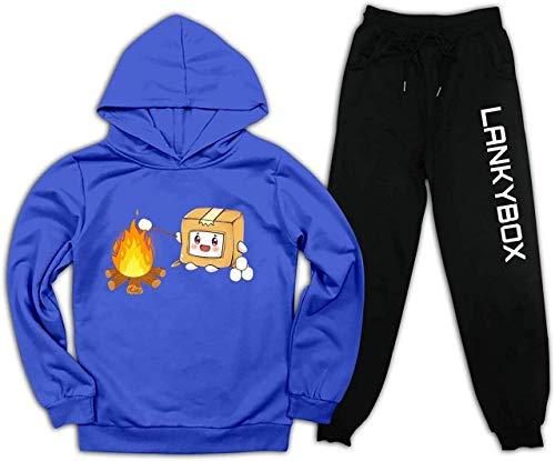 MPY-SEA Conjunto de ropa deportiva unisex para niños y niñas, pantalones deportivos de algodón de color de contraste A07 32 W/34 L
