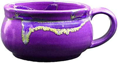 (1) One Individual - PRADO STONEWARE COLLECTION - Stacking/Stackable Soup, Chili, Stews Cups/Mugs/Bowls - Purple