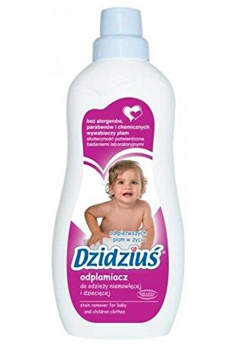 DZIDZIUS / Bebé - Eliminador de manchas hipoalergénico para ropa de bebé, 750 ml