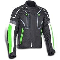 JET Chaqueta Moto Hombre Textil Impermeable con Protecciones Alto Rendimiento DAYTONA (L (EU 50-52), Verde)