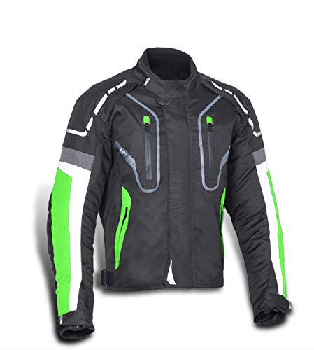 Chaqueta Moto Verde Marca JET