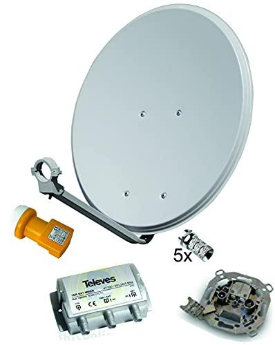 Kit Antena PARABOLICA TELEVES 60CM + LNB TELEVES + Mezclador TV/Sat + Toma SEPARADORA + Conexiones