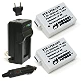Wasabi Power Battery (2-Pack) and Charger for Canon LP-E8 and Canon EOS 550D,...