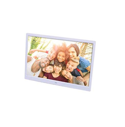 Sterilisers Digitaal fotolijst, Elektronisch Fotoalbum, 15,4 inch, Aanraaktoets, HD 1080P, Video Reclame Machine (Kleur : Wit)