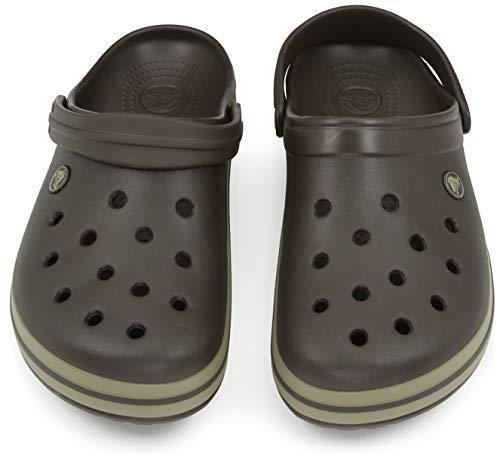 Crocs Unisex-Erwachsene Crocband Clogs, Braun - 3