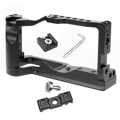 XT-XINTE M6 Mark2 - Soporte de jaula para cámara (con agarre superior, compatible con Canon EOS M6 Mark II, estabilizador Vlog (combo A)