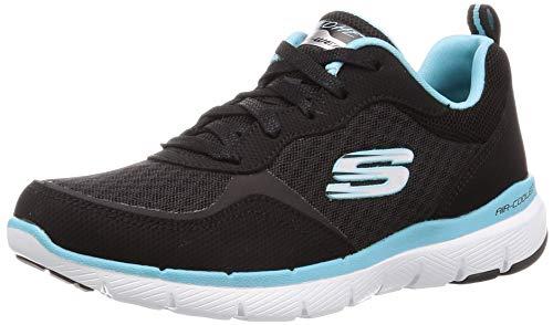 Skechers Flex Appeal 3.0-go Forward Damen-Sneaker, Schwarz (Bktq), 38 EU