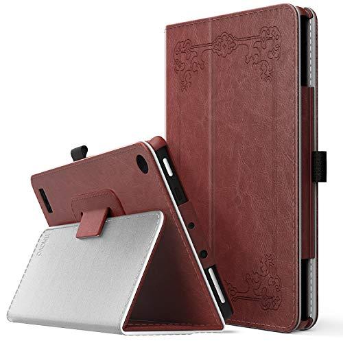 TiMOVO Fire 7 Case - Ultra leggero Slim Shell Stand Cover Case Custodia di Copertura del Supporto per Amazon Fire 7 Tablet (7a Generazione, 2017 Versione SOLO), Vintage