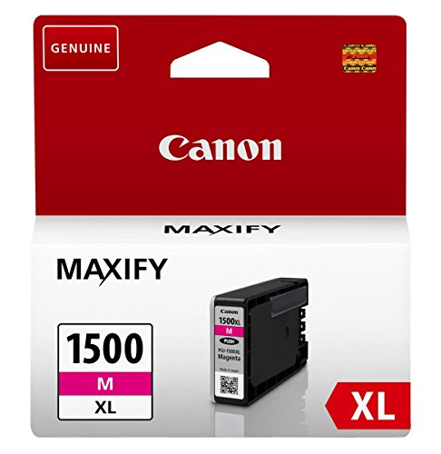 Canon PGI-1500XL M original Tintenpatrone (Magenta XL für Maxify Drucker MB2050-MB2150-MB2155-MB2350-MB2750-MB2755)