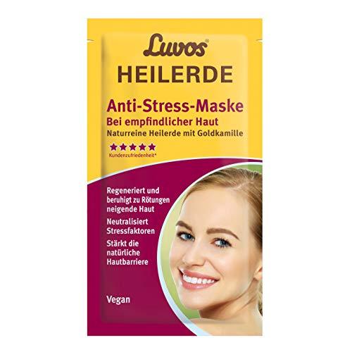 LUVOS Heilerde Anti-Stress Creme Maske tiefenwirksame Repair Pflege bei Hautirritationen, 2 x 7,5 ml