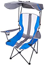 SwimWays Kelsyus Original Foldable Canopy Chair for Camping, Tailgates, and Outdoor Events, Grey/Blue