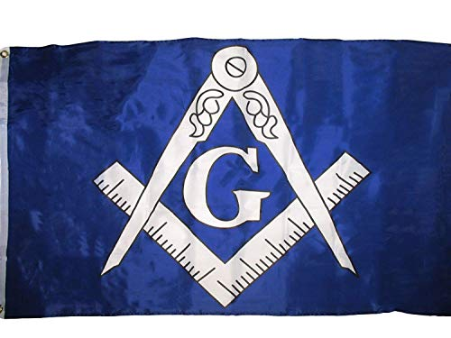 Blue and White Mason Masonic 3x5 Flag Super Polyester / Indoor Outdoor