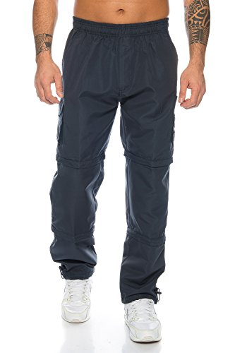 Raff&Taff Hosen Herren Funktionshose Cargo Hose Variable Beinlänge Langehose Bermuda Shorts (Nevi, XL)
