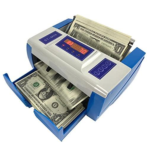Bankbiljet Teller, Draagbare Kleine Vals Geld Detector Currecy Machine Ondersteuning Auto Opladen, Snel Wetsvoorstel Teller Voor Meerdere Vreemde Valutas