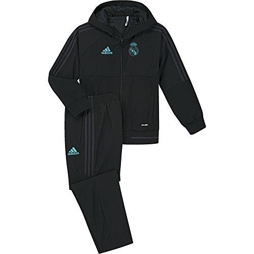 adidas Pre I Chándal con Diseño Real Madrid Temporada 2017/2018,  Niños,  Negro (Gripur), 92