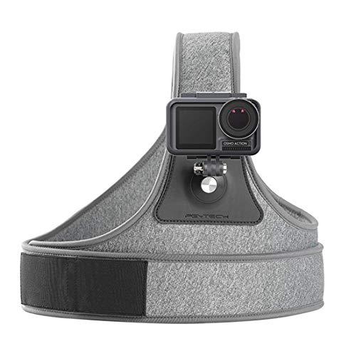 Linghuang borstband verstelbaar voor DJI Osmo Pocket Action Chest schouderriem eenvoudig schouder voor digitale camera