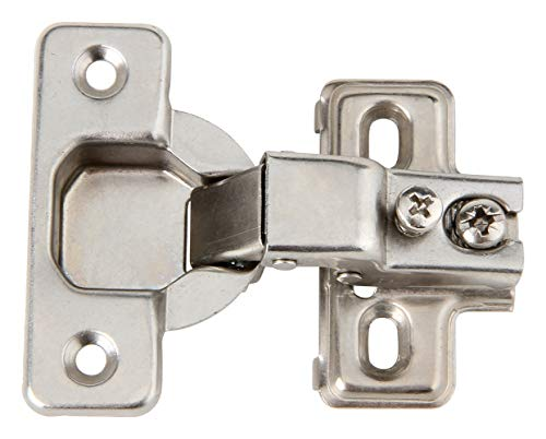Silverline Face Frame Concealed Euro 105Deg Regular Closing Compact Cabinet Hinges, 25 Pack