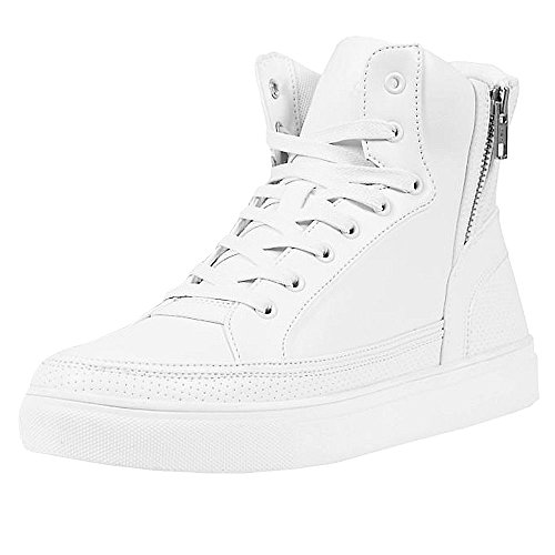 Urban Classics Unisex-Erwachsene Zipper Shoe High-Top, white, 38 EU