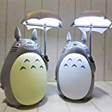 Lámpara Escritorio Kawaii Cartoon Totoro Lamp Lámpara De Mesa Recargable Led Luz De Noche Lectura Para Niños Regalo Decoración Para El Hogar Novedad Iluminación