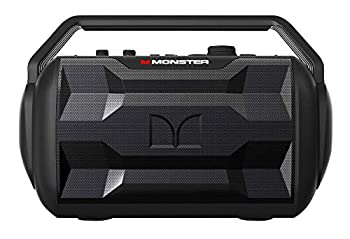 Monster Nomad | Portable Indoor/Outdoor Bluetooth and NFC Speaker 30 Watts of Powerful Premium Sound 30 Hours of Playtime IPX4 Water Resistant USB Port and Microphone/Guitar Input  Black
