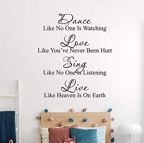 NMML Dance Wall Decal Quote - Baila como si Nadie estuviera Viendo la Cita de Wall Decal - Dance Wall Decal - Dance Quote - Sing Wall Quote