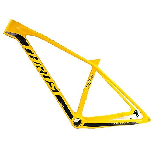 fly away Carbono Mtb Framet1000 Nuevo 29Er Amarillo Bicicletas Fibra Carbono Marco inferior Bb30 29 * 17.5 pulgadas Mtb Marcos Bicicletas Accesorios 29Er 17 pulgadas Bb30 Amarillo