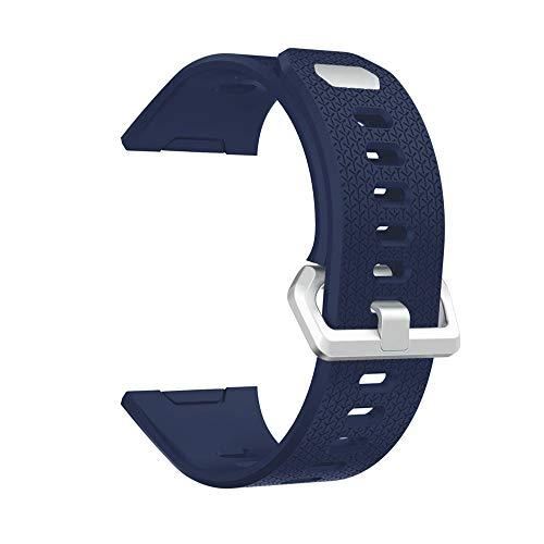 Pulseira de silicone macio de substituição XWU clássica para pulseira Fitbit Ionic Smart grande