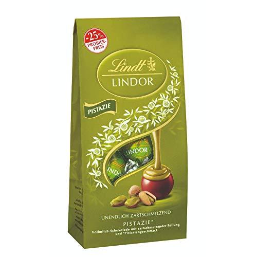 Lindt LINDOR Pistazie-Milch-Schokoladenkugeln (ca. 10 Kugeln) Promotion, 137 g