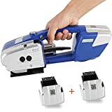 BAOSHISHAN Electric Strapping Machine for 1/2-5/8in PP PET Straps Battery Powered Automatic...