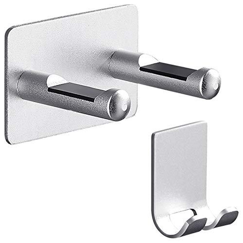 Soporte para Secador de Pelo Rack Punch Libre Almacenamiento Soporte Perchero Cuarto de baño Plata Montaje de pared para el soporte del secador de pelo Rack de almacenamiento de aluminio impermeable S