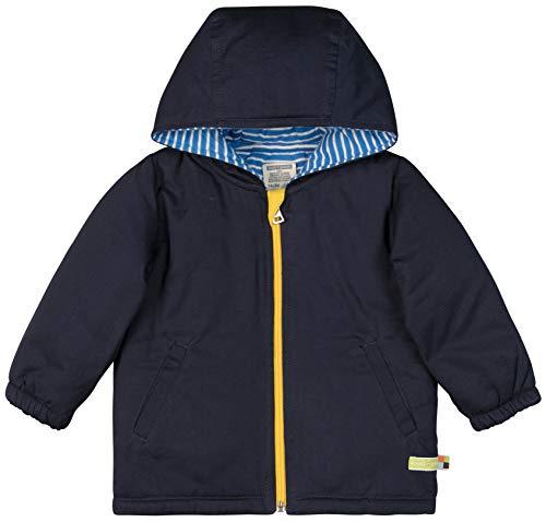loud + proud Baby-Unisex Wasserabweisende, Wattierte Bio Baumwolle Jacke, Blau (Midnight Mi), 80 (Herstellergröße: 74/80)
