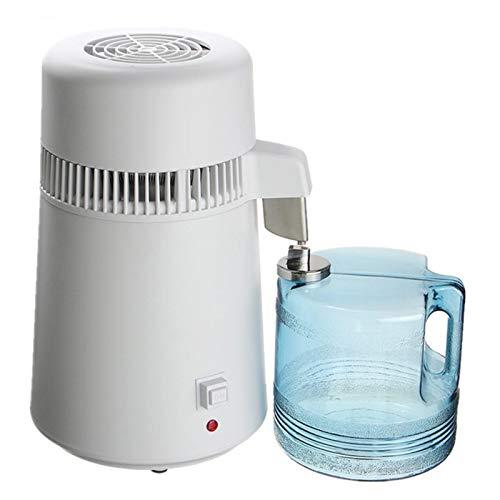 ZLASS Reinwasserbrenner, 750 W 4L Edelstahl-Wasserfilter, mit Wasserflasche und tragbarem Griff, zur Herstellung von reinem Wasser zu Hause/in der Küche/im Büro