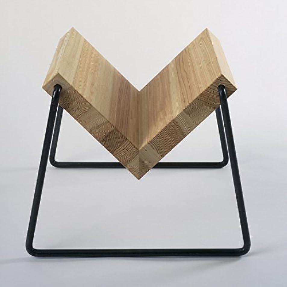 時代ジーンズ識別TETSUBO テツボ マガジンラック (オイル仕上) アイアン×天然木 Bookstand ブックシェルフ デザイナーズインテリア ブックスタンド 小泉誠 シンプルデザイン 日本製 miyakonjo product KUWAHATA (水色)
