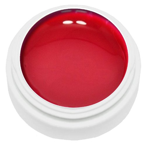 KM-Nails Vernis gel UV spécial nail art - Rouge - 5 ml - Viscosité fine - Pour peindre les ongles