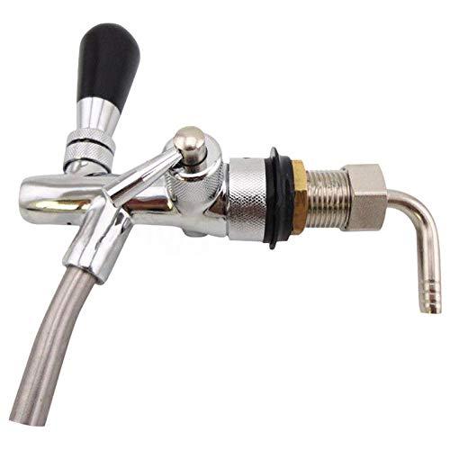 TeRIydF Grifo de Cerveza de Barril Ajustable con Controlador de Flujo para máquina de Cerveza de Barril