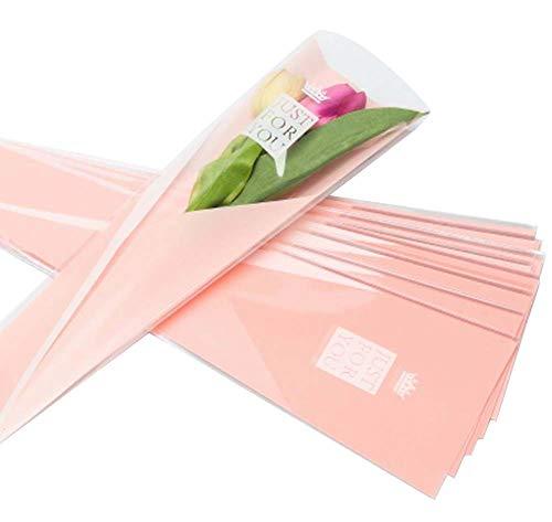 100 pcs unique rose sacs d'emballage bouquet de fleurs sacs d'emballage #06