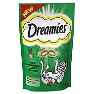 Dreamies Cat Treats, Tasty Snacks with Catnip, 8 Pouches of 60 g