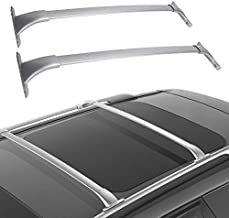 LEDKINGDOMUS Cross Bars Roof Racks Compatible for 2014-2019 Nissan Rogue, Aluminum Cargo Carrier Rooftop Bag Luggage Crossbars Max Load 150 LBS Carrying Canoe Kayak Bike