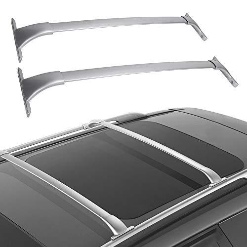 Cross Bars Roof Racks Compatible for 2014-2020 Nissan Rogue, Aluminum Cargo Carrier Rooftop Bag Luggage Crossbars Carrying Canoe Kayak Bike