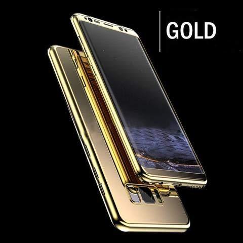 Beschermhoes voor Samsung Galaxy S10, spiegel, goudkleurig, incl. displaybeschermfolie, stootvast en krasbestendig