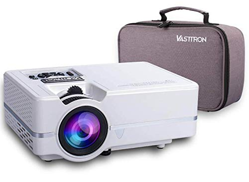 "Vasttron Home Video Projector with Carrying Case, 3200 Lux LED Mini Projector with 170"" and 1080P Support, Compatible with PS4, TV Sticks, PCs & Smartphones for Movie Theater and Gift"